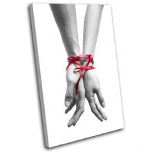 Ribbon Tied Hands Love - 13-1292(00B)-SG32-PO